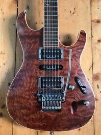 Ibanez S2170 Prestige Bubinga Top Guitar. Super Strat a la RG, ESP LTD, Jackson