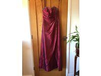 Taffeta ruby red bridesmaid dress NWT size 4