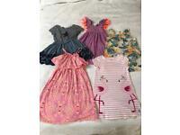 Joules, Gap and Next Girls 5 Dress Bundle 2-3 years.
