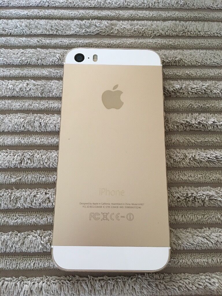 iPhone 5s Gold 16GB on o2in Hucknall, NottinghamshireGumtree - iPhone 5s, Gold, 16GB on o2. General wear and tear as seen in image. Only selling due to recent upgrade. Thank you