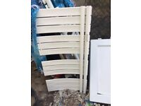 designer white towel radiator