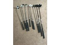 FX100 golf clubs/bag/trolley/balls/tees