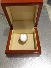 Rare 9ct Gold Omega Watch Ring