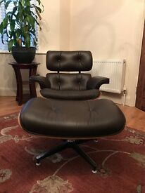 Leather Arm Chair with matching stool