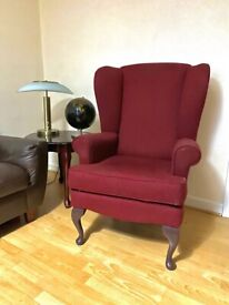 Designer Retro/vintage red armchair - FREE DELIVERY