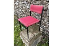 Stacking cushioned chairs
