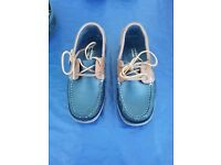 Mens brand new leather deck shoes