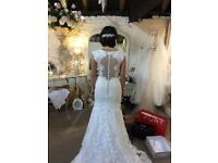 Mori Lee wedding dress size 6 lace and ivory