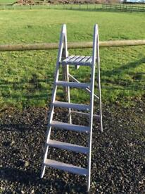 Painted ladders Annie Sloane lilac