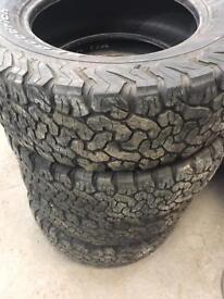 265/65/17 bf goodrich all terrain tyres hilux / navara / d max / l200