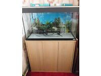 aquarium and cabinet + extras