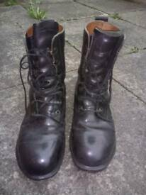 Military issue boots size 9