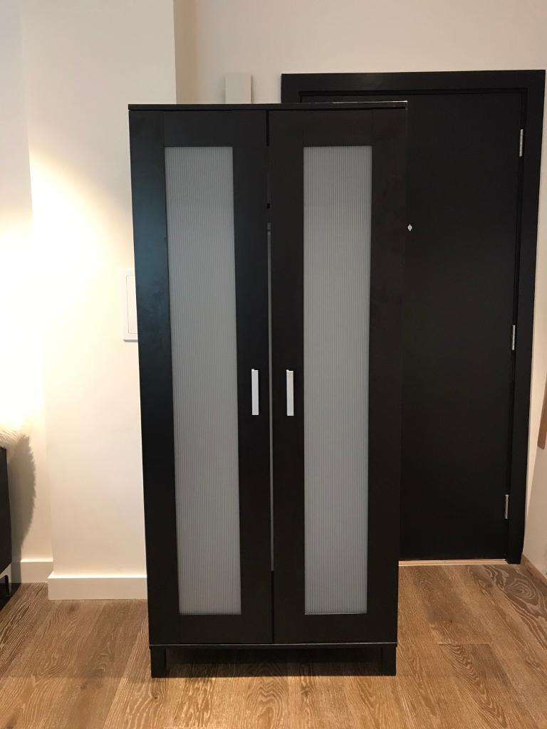 ikea brimnes wardrobe black brown in london gumtree. Black Bedroom Furniture Sets. Home Design Ideas