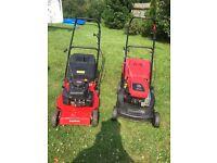 Mountfeild hp470 & champions r484p lawn mowers
