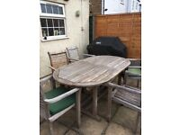 Teak Garden Table and 7 seats