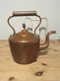 Vintage antique brass / copper kettle