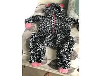 Girls Next fleece onesie age 7-8