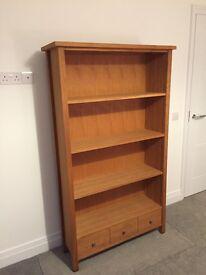 Next Solid Oak Tall Unit/Bookcase