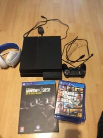 PS4 1TB with games, headset and controller (Unboxed) ONO