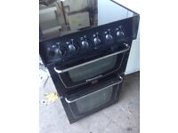 Black gas cooker 50cm....Cheap free delivery