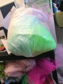 2 bags of coloured tulle netting
