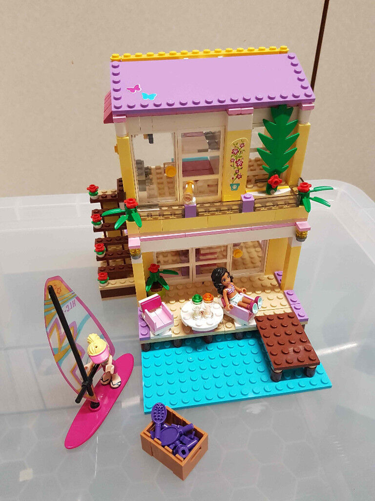 Lego Friends Stephanies Beach House 41037 Complete With