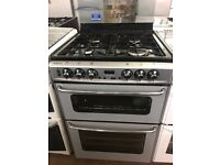 60CM SILVER STOVES DUEL FUEL GAS COOKER