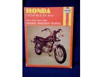 Haynes workshop manual for Honda CD / CM 185 & 200