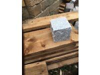 10,000 Granite blocks cobbles edging