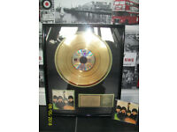 "Beatles ""Beatles for Sale"" Gold Record (with Unopened CD)"