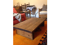 "coffee table solid wood, low profile 24"" x 36"" x 11"" inches"