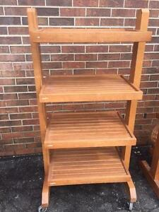 Mobile  Wooden Bakery, Produce Display Racks