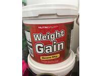 Whey protein mass builder 5kg Brand new Nutrisport various flavours creatine bcaa