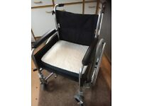 Near Mint Livewell Superlight self propelled wheelchair and cushion in almost new condition