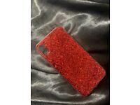 Glitter Red iPhone XR case