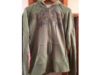 Ladies Billabong Green Zipped Hoodie