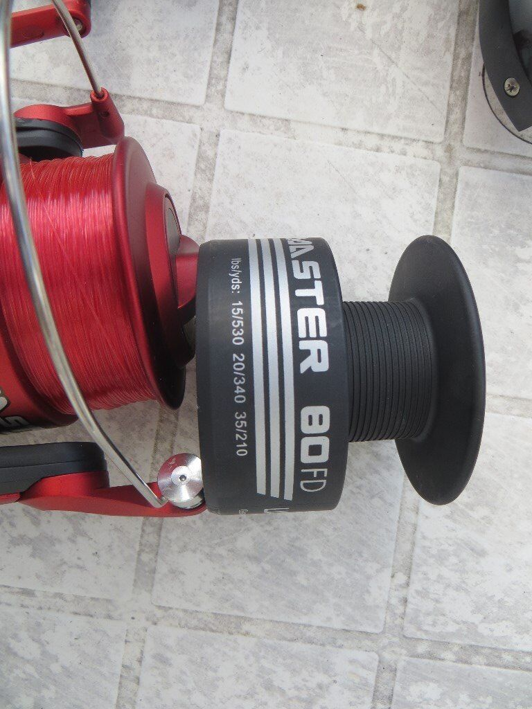 Fishing reel - New Lineaffe Ocean Master; fixed spool sea/beach spinning reel preloaded with line