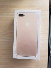 Apple I phone 7 plus 256gb gold brand new sealed unlocked