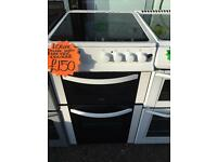 LOGIK 50CM CEROMIC TOP ELECTRIC COOKER IN WHITE