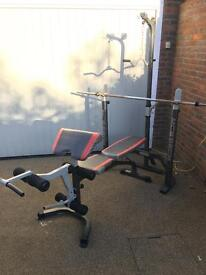 Marcy MCB880M Olympic Bench & Weights - Amazing Value - Good Condition
