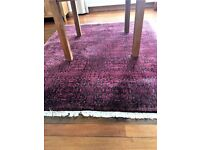 Habitat Pink/Brown Hand tufted 100% Wool Rug (220x180 cm) - Excellent condition