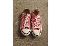 Pink converse adults size 5
