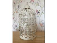 BEADED BIRD CAGE LAMP