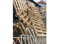 Pallets and wooden crates