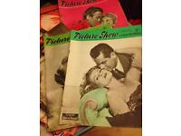 Collection of vintage 1950s Picturegoer & Picture Show film magazines