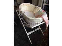 Mamas and papas whirligig Moses basket set