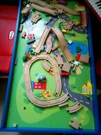 Children's play train track table