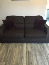 3 seater and 2 seater chocolate brown DFS sofas, very good condition , only £100