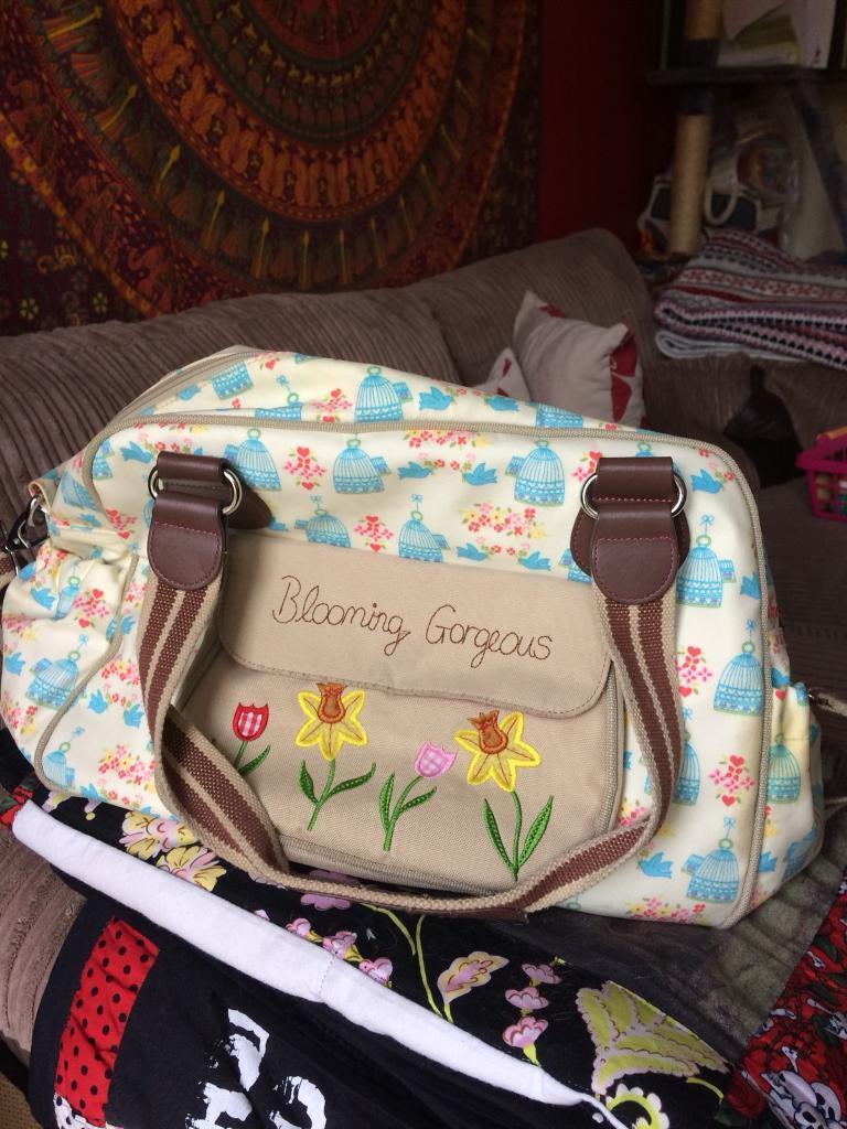 Pink lining changing bag £30