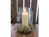 12 x wedding glass vases / candle holder